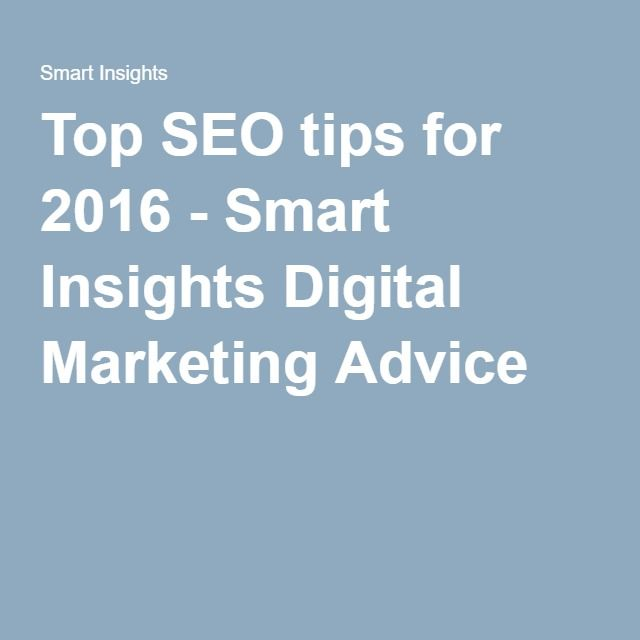Invenit Micronology Information Technology Solutions | Top SEO Tips for 2016 - Smart Insight in Digital Marketing